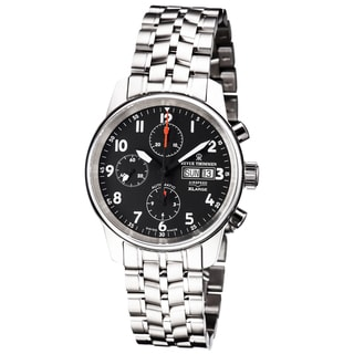 Revue Thommen 16051.6137 'Auto Chrono' Black Dial Stainless Steel Bracelet Swiss Automatic Watch