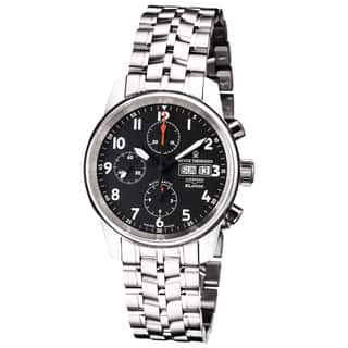 Revue Thommen 16051.6137 'Auto Chrono' Black Dial Stainless Steel Bracelet Swiss Automatic Watch|https://ak1.ostkcdn.com/images/products/10363613/P17471086.jpg?impolicy=medium