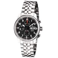 Revue Thommen  'Auto Chrono' Black Dial Stainless Steel Bracelet Swiss Automatic Watch - Two-tone