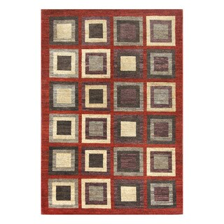 Herat Oriental Afghan Hand-knotted Tribal Vegetable Dye Gabbeh Wool Rug (5'11 x 8'9)