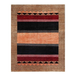 Herat Oriental Afghan Hand-knotted Tribal Vegetable Dye Gabbeh Orange/ Brown Wool Rug (7'11 x 9'9)