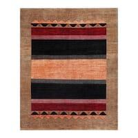 Herat Oriental Afghan Hand-knotted Tribal Vegetable Dye Gabbeh Wool Rug - 7'11 x 9'9