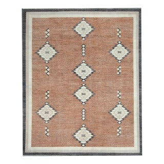 Herat Oriental Afghan Hand-knotted Tribal Vegetable Dye Gabbeh Brown/ Ivory Wool Rug (8'3 x 9'11)