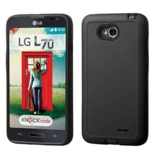 Insten Hard PC/ Soft Silicone Dual Layer Hybrid Phone Case Cover For LG Optimus Exceed 2 VS450PP Verizon/ Optimus L70/ Realm