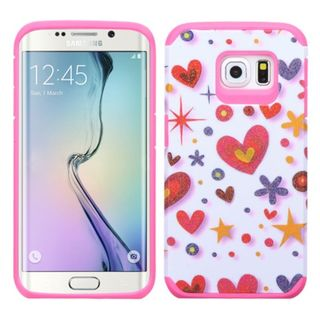Insten Heart Graffiti Hard PC/ Silicone Dual Layer Hybrid Rubberized Matte Phone Case Cover For Samsung Galaxy S6 Edge