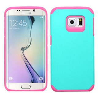 Insten Hard PC/ Soft Silicone Dual Layer Hybrid Rubberized Matte Phone Case Cover For Samsung Galaxy S6 Edge