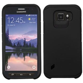 Insten Hard PC/ Soft Silicone Dual Layer Hybrid Rubberized Matte Phone Case Cover For Samsung Galaxy S6 Active