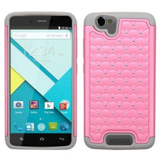 Insten Hard PC/ Soft Silicone Dual Layer Hybrid Rubberized Matte Phone Case Cover with Diamond For BLU Studio Energy