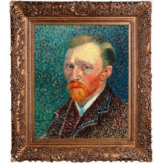 Vincent Van Gogh 'Self Portrait' Hand Painted Framed Canvas Art