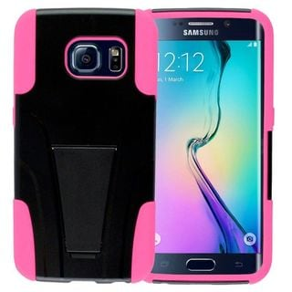 Insten Hard PC/ Soft Silicone Dual Layer Hybrid Phone Case Cover with Stand For Samsung Galaxy S6 Edge
