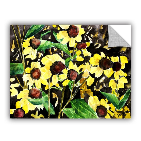 ArtAppealz Derek Mccrea 'Black Eyed Susan' Removable Wall Art