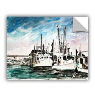 ArtAppealz Derek Mccrea 'Boats Painting' Removable Wall Art