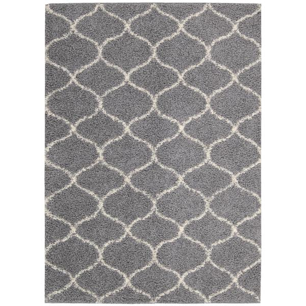 Nourison Windsor Silver Shag Area Rug (8'2 x 10')