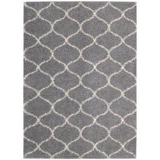 Nourison Windsor Silver Shag Area Rug (8'2 x 10') - 8'2 x 10'