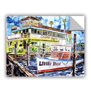 ArtAppealz Derek Mccrea 'Clearwater Boat Painting' Removable Wall Art
