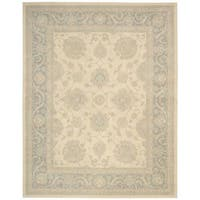 kathy ireland Royal Serenity Hyde Park Ivory/Blue Area Rug by Nourison - 5'6 x 7'5