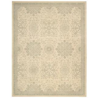kathy ireland Royal Serenity St. James Bone Area Rug by Nourison (5'6 x 7'5)