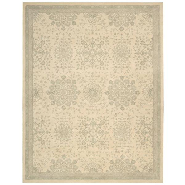 kathy ireland Royal Serenity St. James Bone Area Rug by Nourison - 5'6 x 7'5