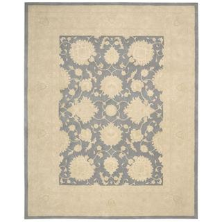 kathy ireland Royal Serenity Hyde Park Slate Area Rug by Nourison (5'6 x 7'5)