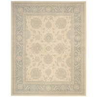 """kathy ireland Royal Serenity Hyde Park Ivory/Blue Area Rug by Nourison (7'6 x 9'6) - 7'6"""" x 9'6"""""""