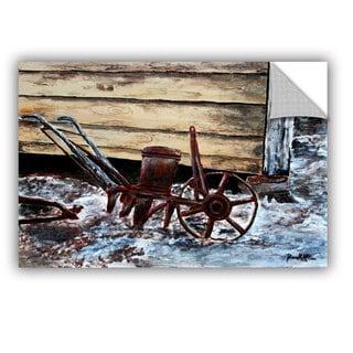 ArtAppealz Derek Mccrea 'Old Farm Plow' Removable Wall Art