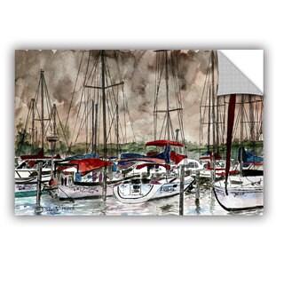 ArtAppealz Derek Mccrea 'Sailboats' Removable Wall Art