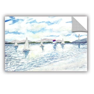 ArtAppealz Derek Mccrea 'Sailboats 2' Removable Wall Art
