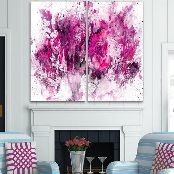 Purple Canvas Rug: Shop Design Art 'Pink Purple Flowers' Canvas Art Print