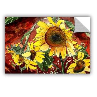 ArtAppealz Derek Mccrea 'Sunflowers' Removable Wall Art