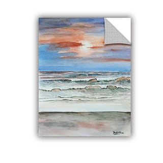 ArtAppealz Derek Mccrea 'Sunset Beach' Removable Wall Art