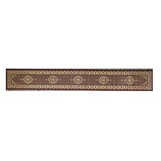 Linon Persian Treasures Mahi Tabriz Red Oriental Polypropylene Stair Runner Rug (2'3-inch x 16')
