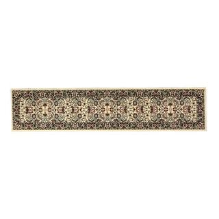 Linon Persian Treasures Nain Cream Floral Polypropylene Stair Runner Rug (2'3-inch x 16') - 2'3 x 16'