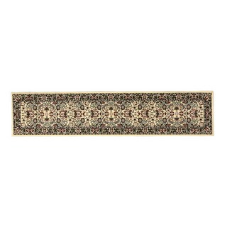 Linon Persian Treasures Nain Cream Floral Polypropylene Stair Runner Rug (2'3-inch x 16')