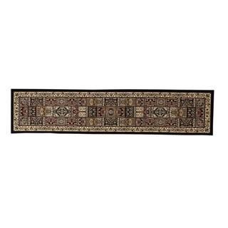 Linon Persian Treasures Bakhtiari Oriental Polypropylene Stair Runner Rug (2'3-inch x 16') - 2'3 x 16'