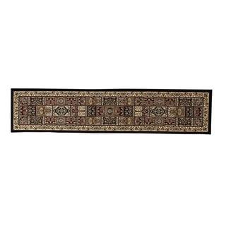 Linon Persian Treasures Bakhtiari Oriental Polypropylene Stair Runner Rug (2'3-inch x 16')