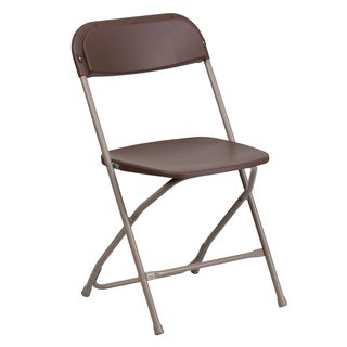 Wisteria Brown Folding Chairs with Draining Holes