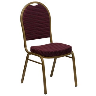 Jacar Burgundy Diamond Upholstered Stack Dining Chairs