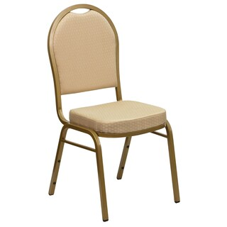 Jacar Beige Upholstered Stack Dining Chairs