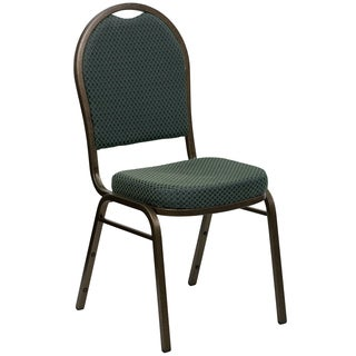 Jacar Green Upholstered Stack Dining Chairs