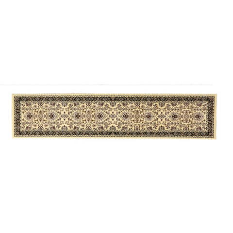 Linon Persian Treasures Isfahan Cream Floral Polypropylene Runner Rug (2'3-inch x 10') - 2'3 x 10'