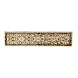 Linon Persian Treasures Isfahan Cream Floral Polypropylene Runner Rug (2'3-inch x 10')