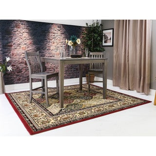 Linon Persian Treasures Kerman Oriental Polypropylene Square Area Rug