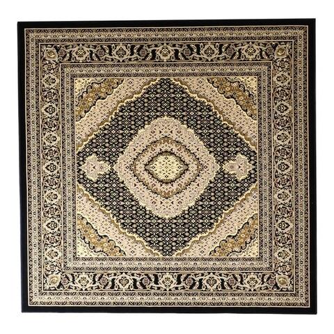 Linon Persian Treasures Mahi Tabriz Oriental Polypropylene Square Area Rug