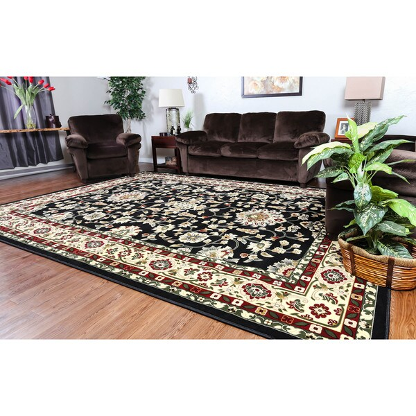 Linon Persian Treasures Isfahan Floral Polypropylene Rectangular Area Rug