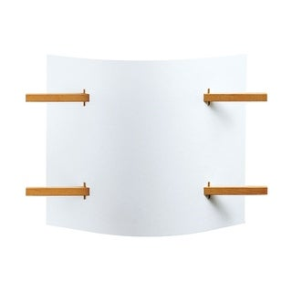 Justice Design Group Domus 1-light Folio Beech Wood Wall Sconce