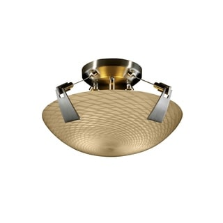Justice Design Group Fusion 2-light Tapered Clips Semi-flush, Weave