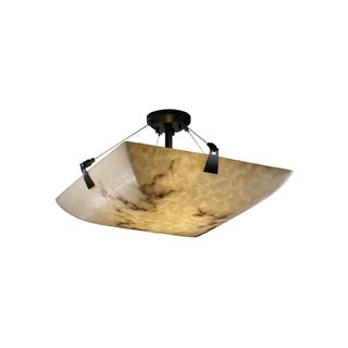 Justice Design Group LumenAria 6-light Tapered Clips Semi-flush