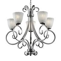 Justice Design Group Veneto Luce 5-light Victoria Chandelier Whitewash