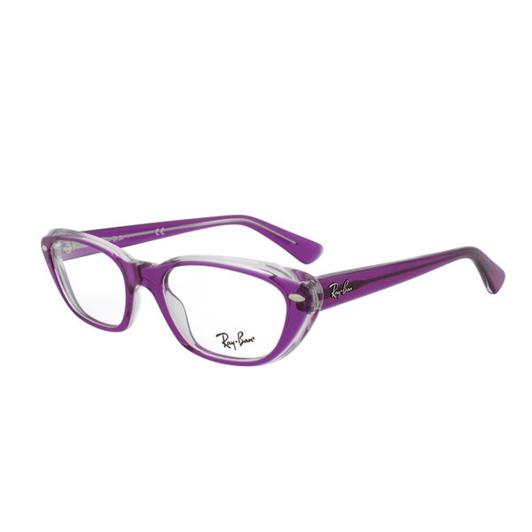 Eyeglass Frame Size 51 : Ray-Ban RX 5242 5254 Rectangular Eyeglass Frames, Purple ...