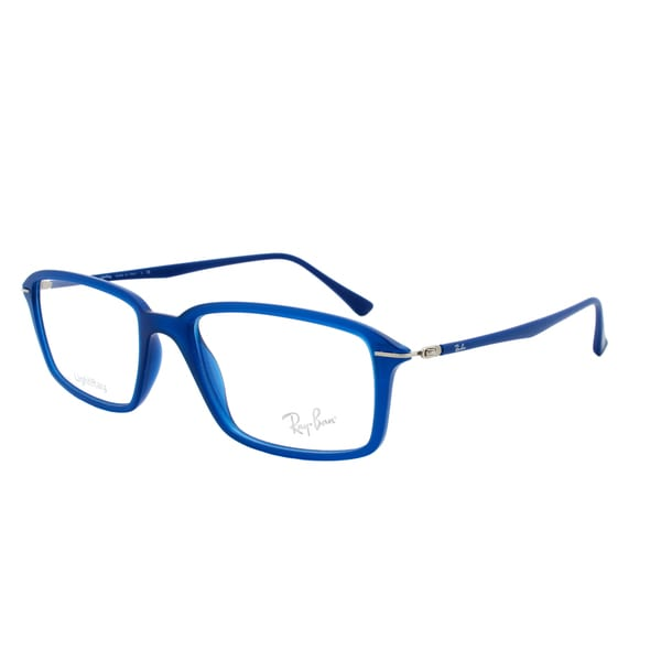 Frame Size For Eyeglasses : Ray-Ban RX 7019 5242 Rectangular Eyeglass Frames, Blue ...